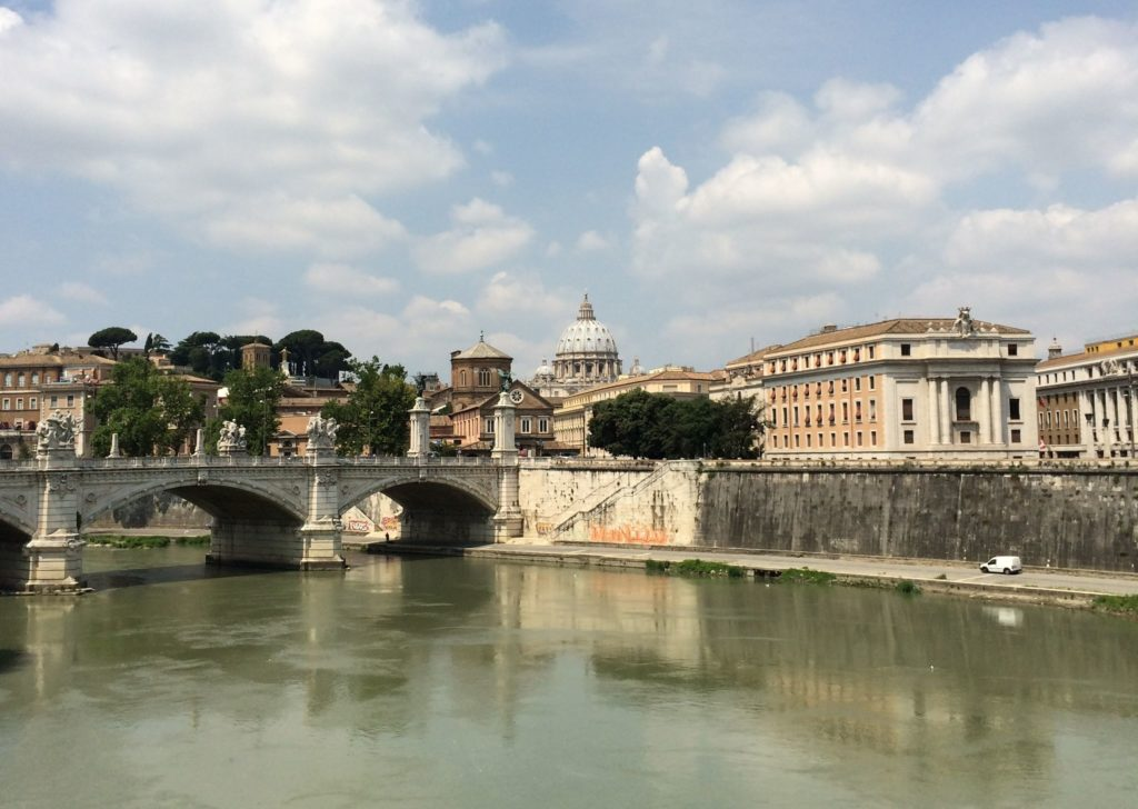 View of the Vatican from Lungotevere Tor di Nona,00186 Roma, Italy