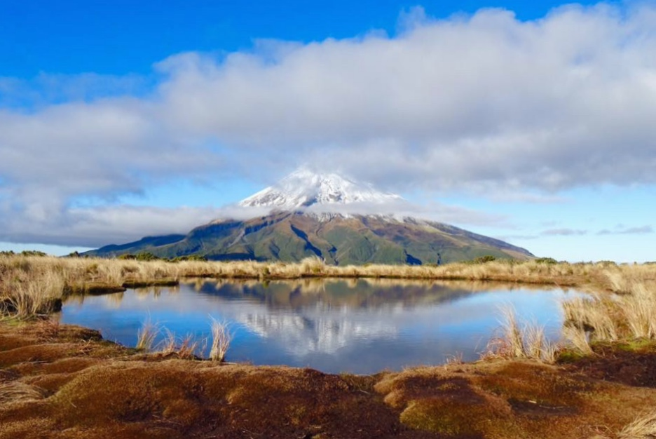 Mount Taranaki from Pouakai Tarns, North Island, New Zealand